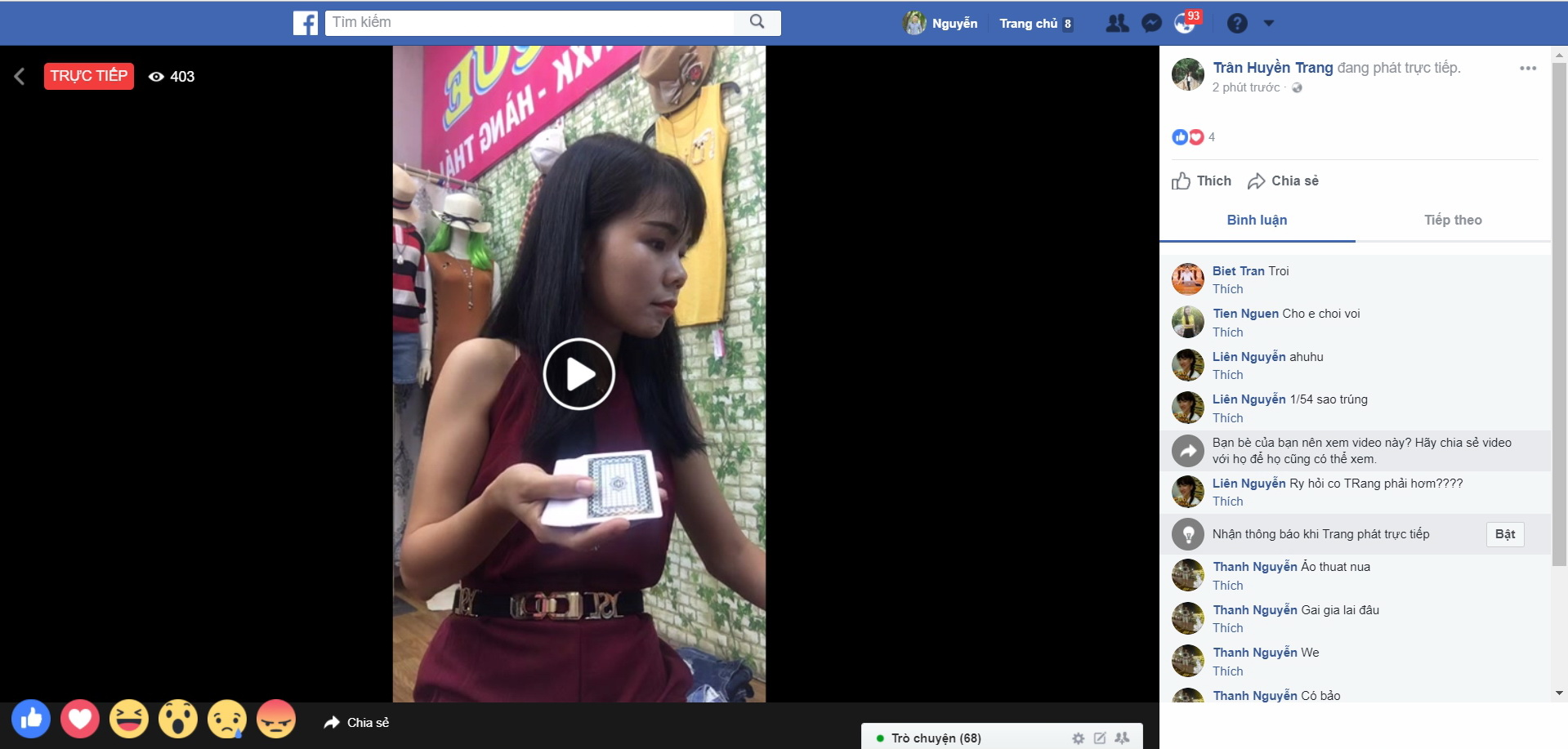 livestream trên facebook, tiktok, youtube