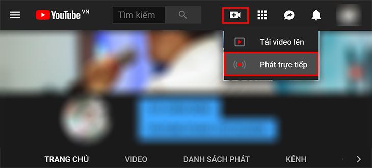 Livestream YouTube trên máy tính + Bước 1
