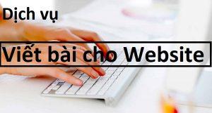 Dịch vụ viết bài cho website chuẩn SEO giá rẻ